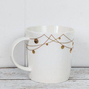 🌻 2/$25 Starbucks '12 Gold Ornament Christmas Mug